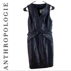 Anthropologie Black Pencil Dress